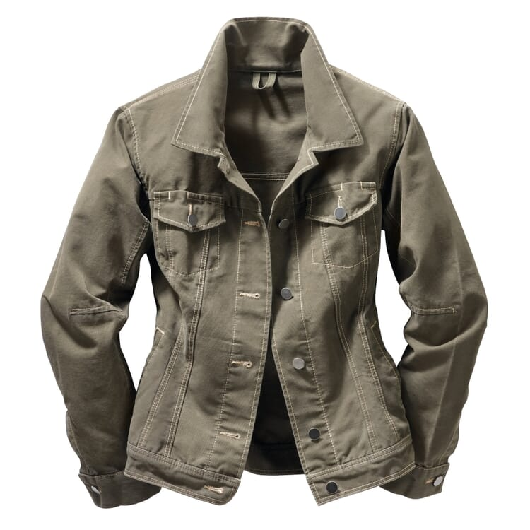 Women's Canvas Working Jacket, Olive