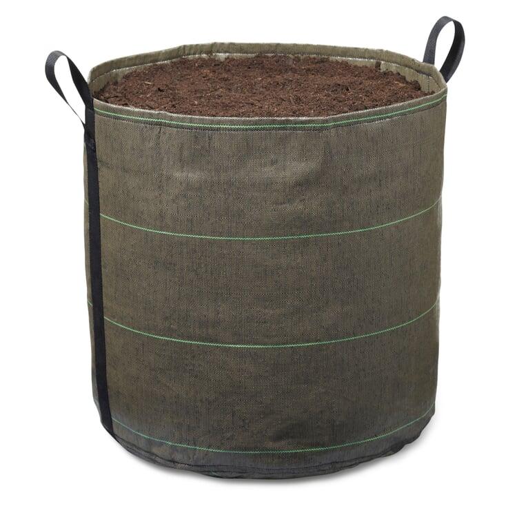 Pflanzgefäß Bacsac - Behälter zylindrisch 100 Liter Grün/Braun