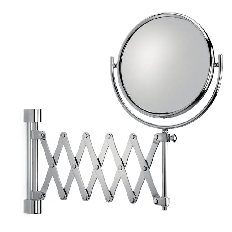 Bathroom Mirror with Concertina Arm