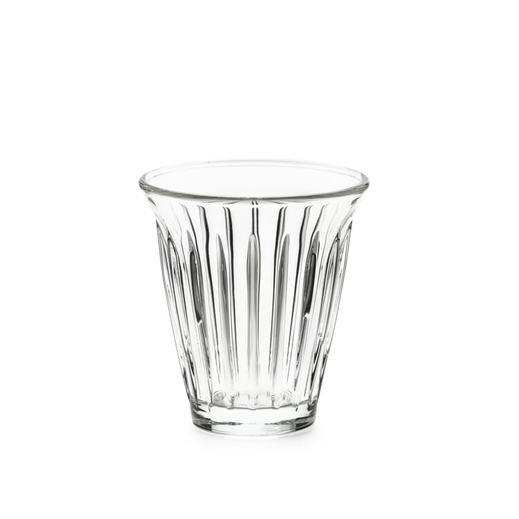 Ribbed Glass for Espresso and Coffee by La Rochère, 170 ml