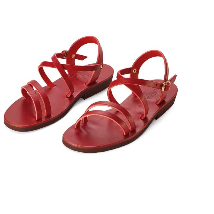 Women's Benedictine Sandals Narrow Fit, Red