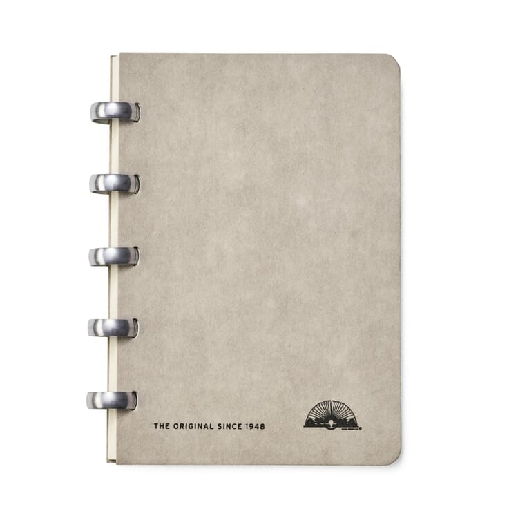 A6 Notebook with Blank Pages by Atoma, Gray