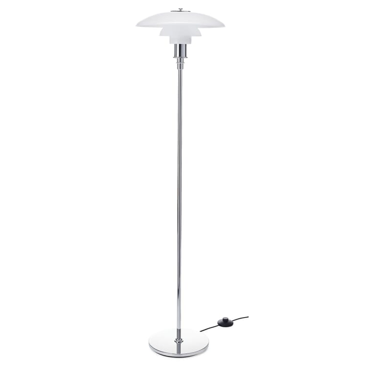 Floor Lamp Opaline Glass PH 3½-2½ by Louis Poulsen