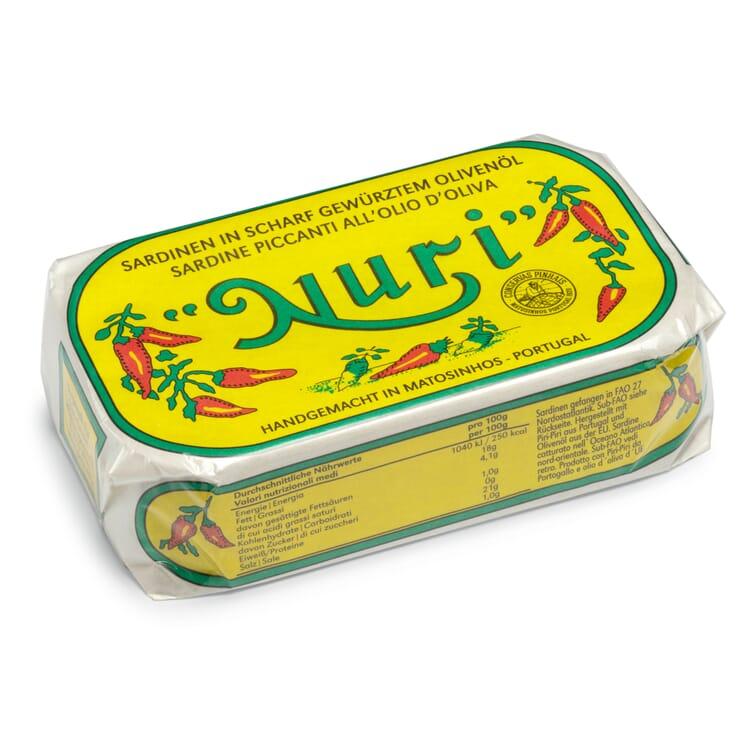 Sardinen in scharfem Olivenöl
