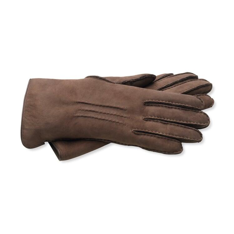 Damenhandschuh Curleylammfell Dunkelbraun