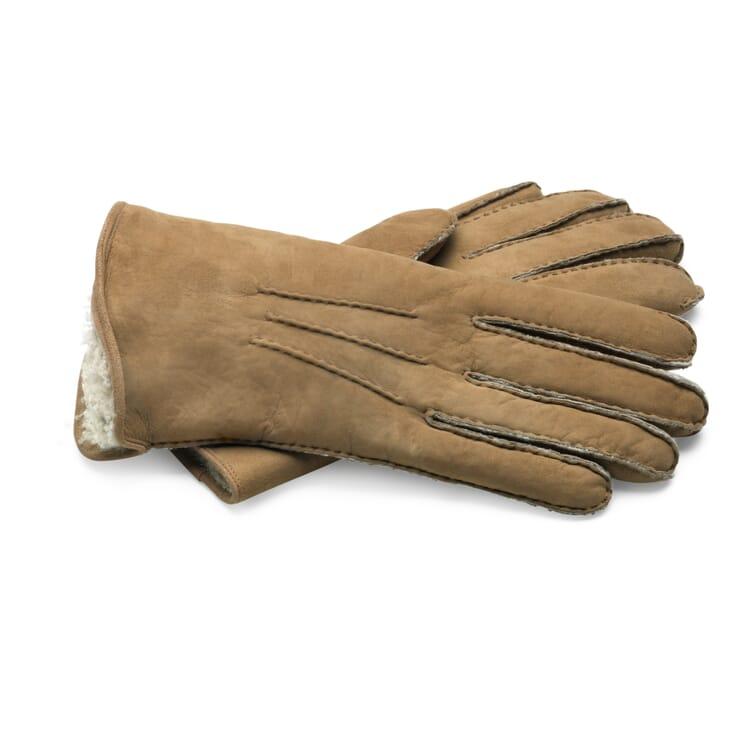 Curley Lambskin Gentlemen's Gloves, Nature