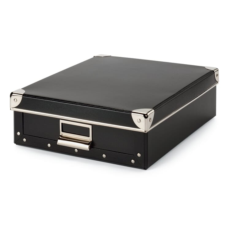 A4 Document Box, Black