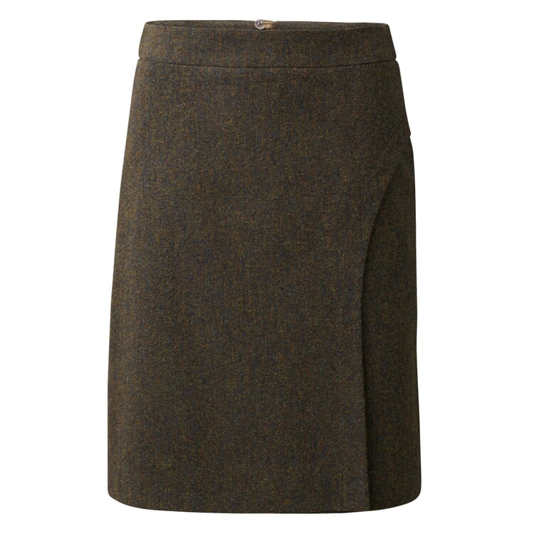Wrap-Around Look Skirt Brown melange