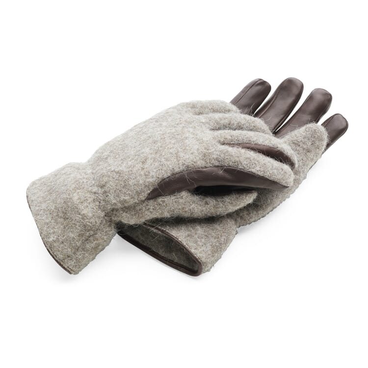 Men's Glove Made of Loden and Lamb's Leather by Eska