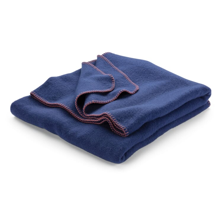 New Wool Blanket, Cornflower Blue