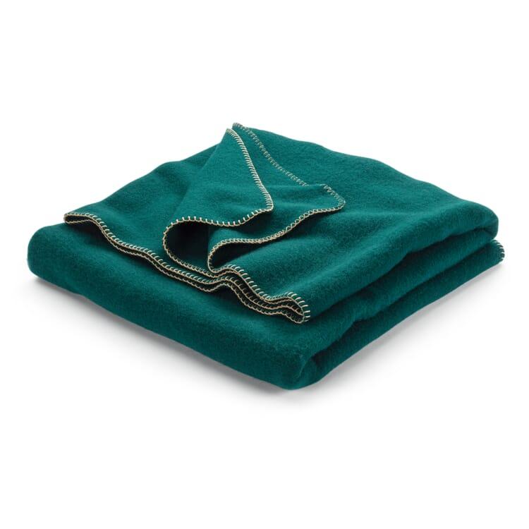 New Wool Blanket, Fir Green