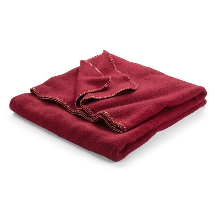New Wool Blanket, Deep Red