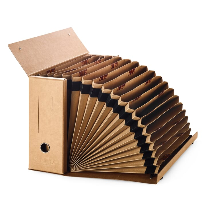 Folder with Fan-Out Compartments, Brown