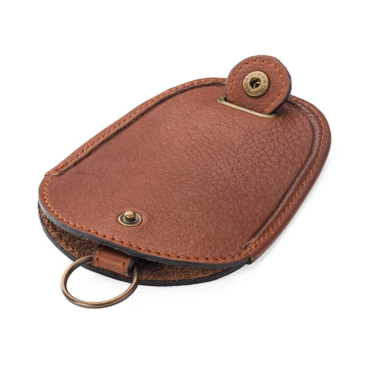 Retractable Key Pouch Made of Cowhide by Manufactum