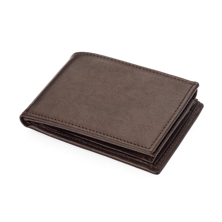 Small Wallet with Card Slots and Coin Pocket Made of Cow Leather