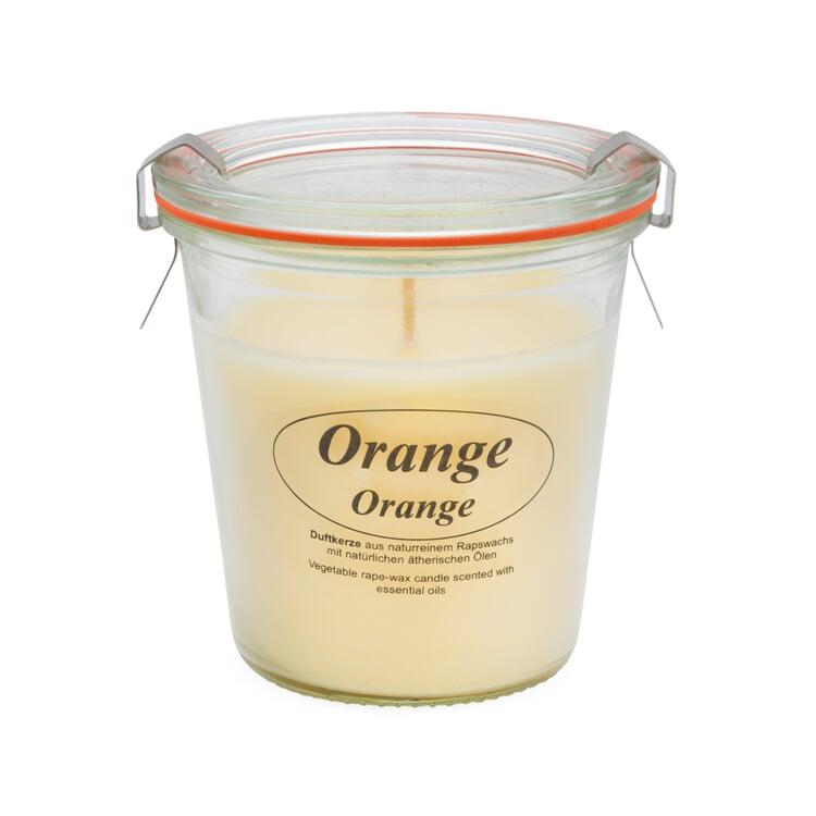 Rapskerze Weck®-Glas Orange