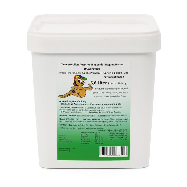 Wurmhumus, 5,6 Liter