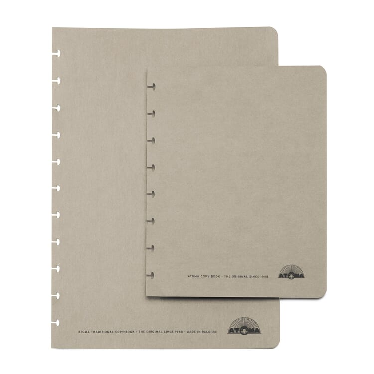 Set of Extra Wide A4 Texon Covers, Grey