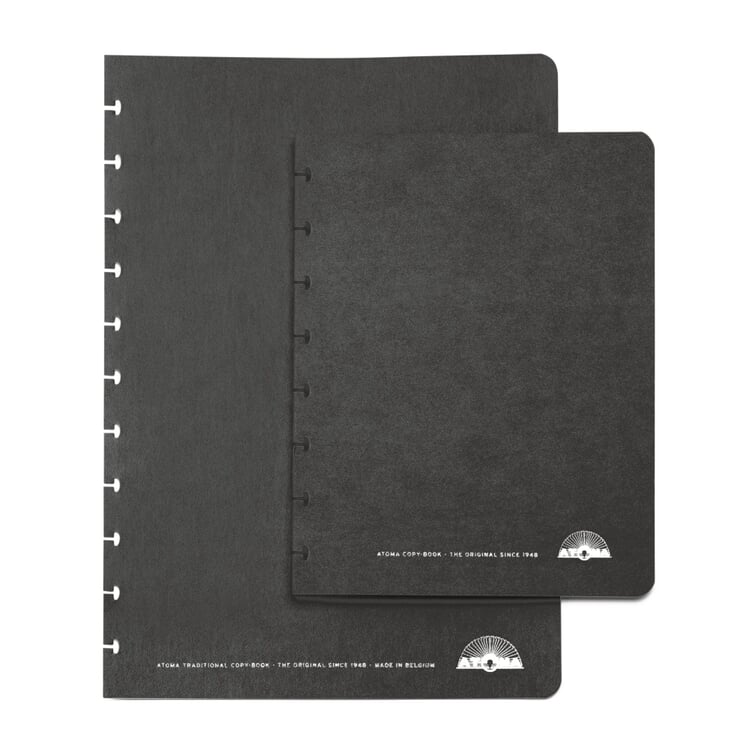 Set of Extra Wide A4 Texon Covers Black