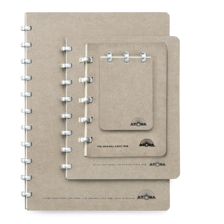 A7 Notebook with Blank Pages by Atoma Grey