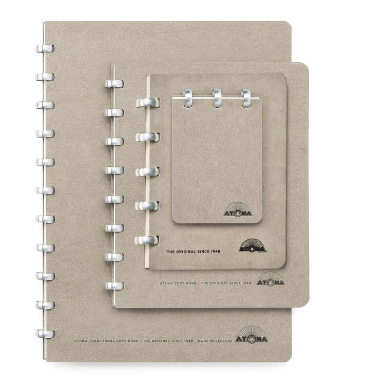 A7 Notebook with Blank Pages by Atoma, Grey