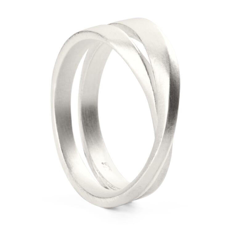 Möbius Ring Silver, 17 mm