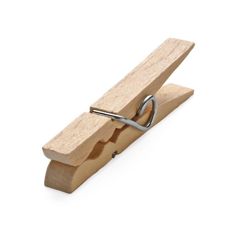 Beech Wood Clothes Pegs, Length 7.5 cm, width 9.5 mm