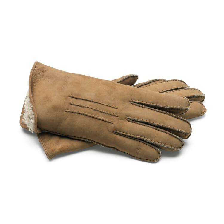 Damenhandschuh Curleylammfell, Natur