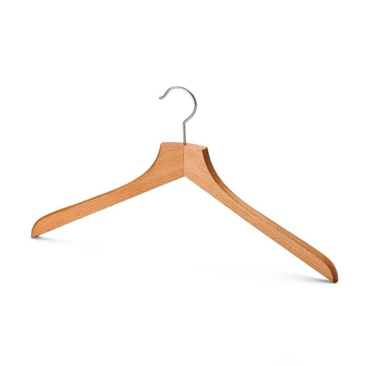 Contoured Coat Hanger for Men Without Pants Bar