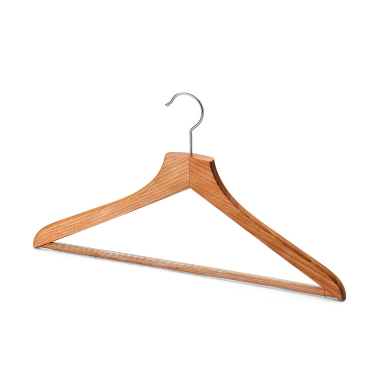 Contoured Coat Hanger for Men With Pants Bar