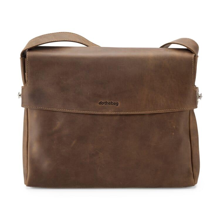 Leather Messenger Bag, Landscape Format