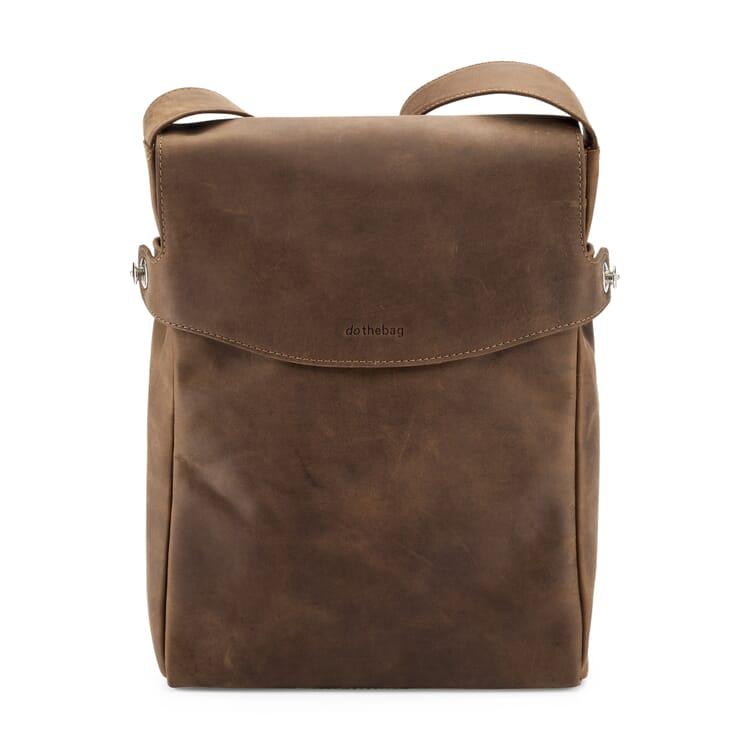 Leather Messenger Bag, Portrait Format