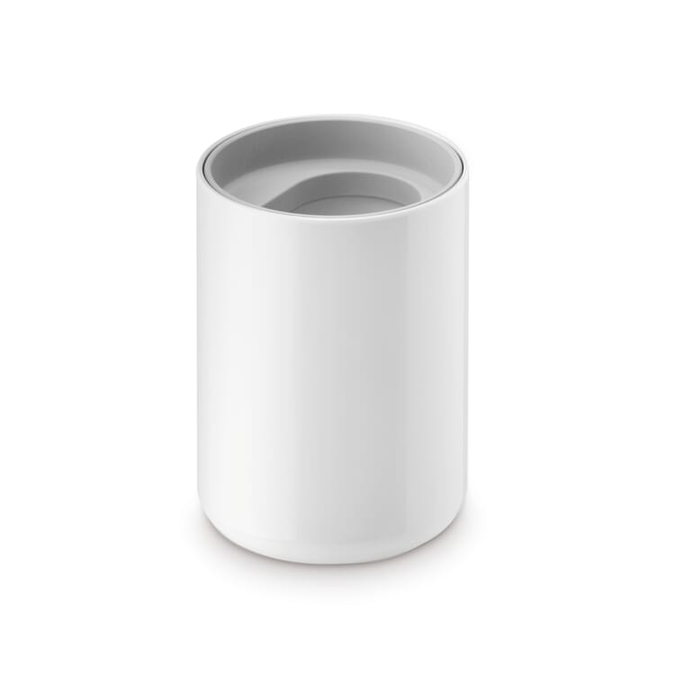 "Toothbrush Mug ""Lunar"", White and Grey"