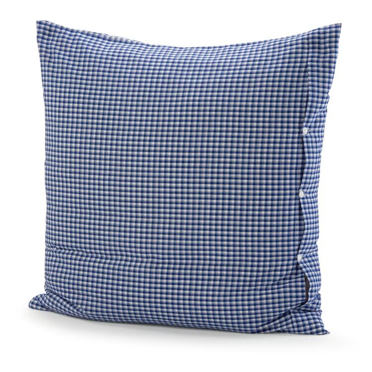 Pillow Case Check Pattern Blue-White