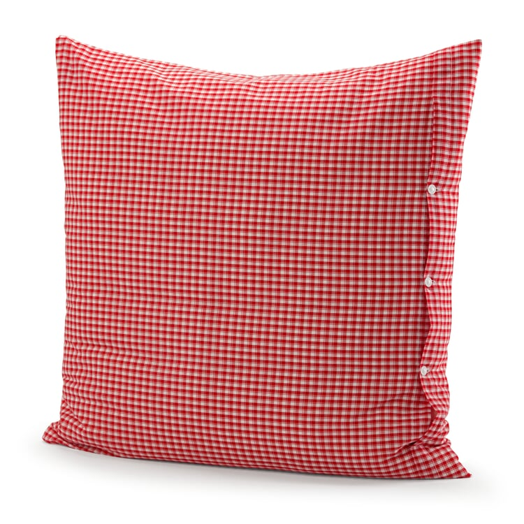 Pillow Case Check Pattern Red-White