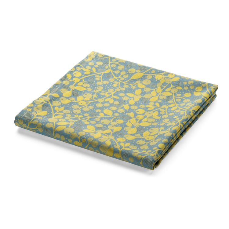 Tischdecke Mini Labo, Blau-Gelb
