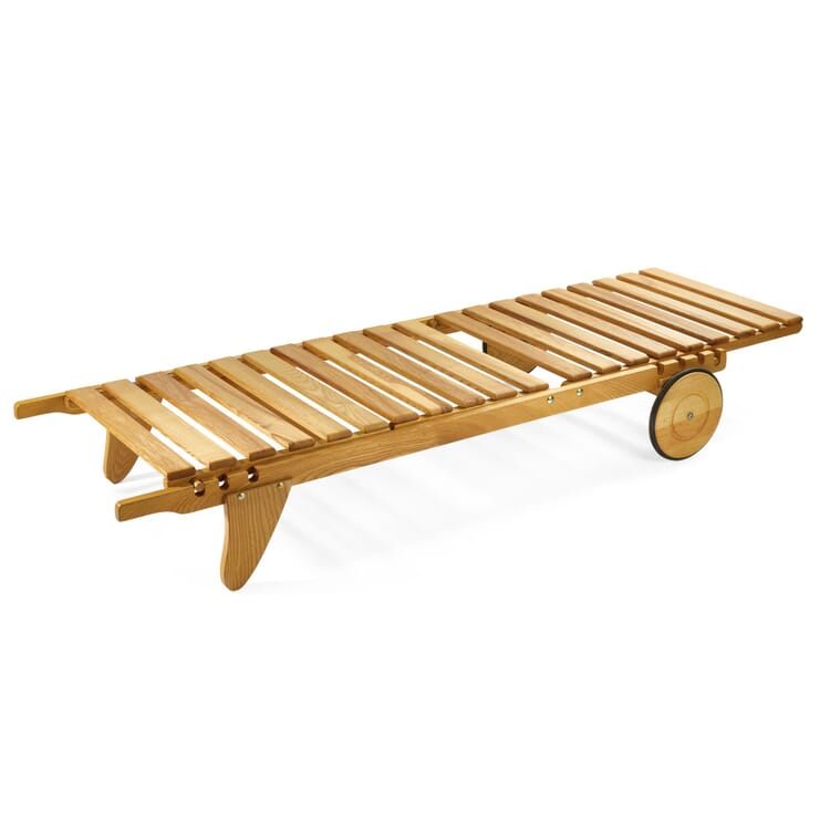 Garden Lounger Made of Ash Wood