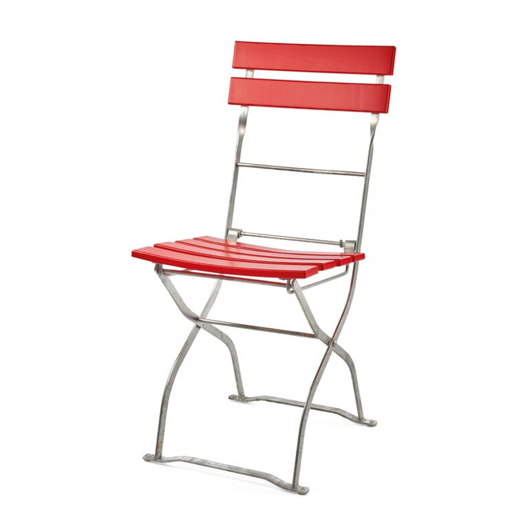 Beer Garden Chair Ash Wood, Red