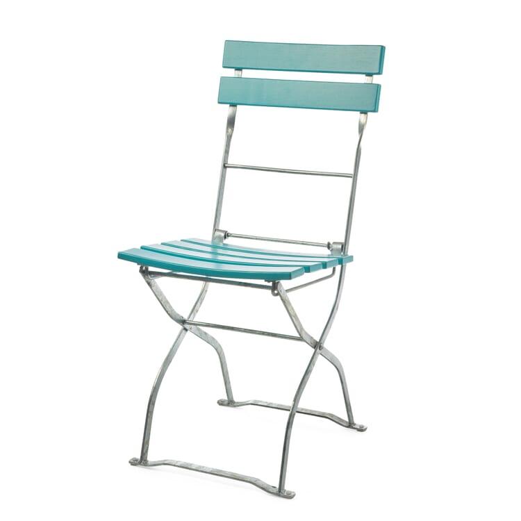 Beer Garden Chair Ash Wood, Aqua