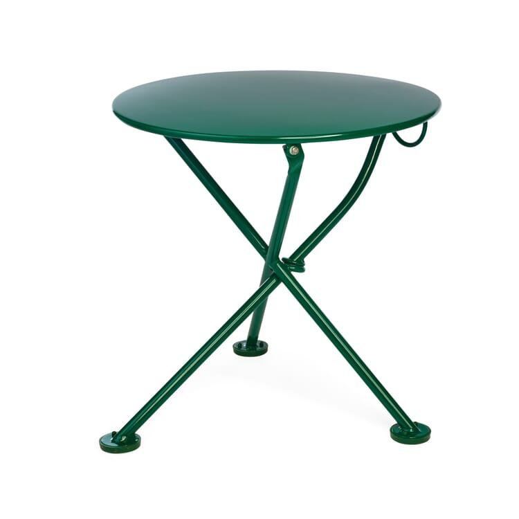 Low Folding Bistro Table Made of Steel, Green