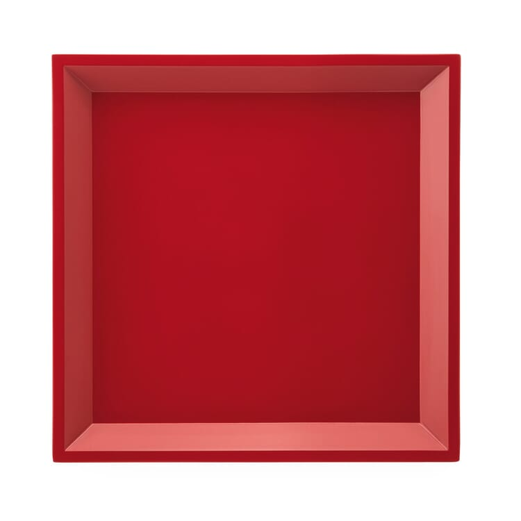 Side Table Modular Tray Square, Red