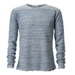 Men's Sweater Made of Linen by Inis Meáin Green-Blue
