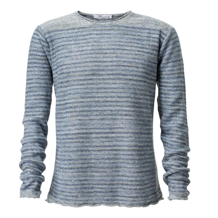 Men's Sweater Made of Linen by Inis Meáin, Green-Blue