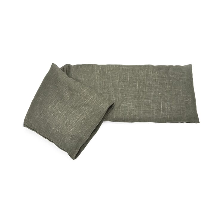Wärmekissen Leinen, Graugrün