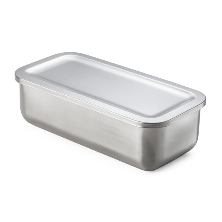 Stainless Steel Storage Tin, 870 ml