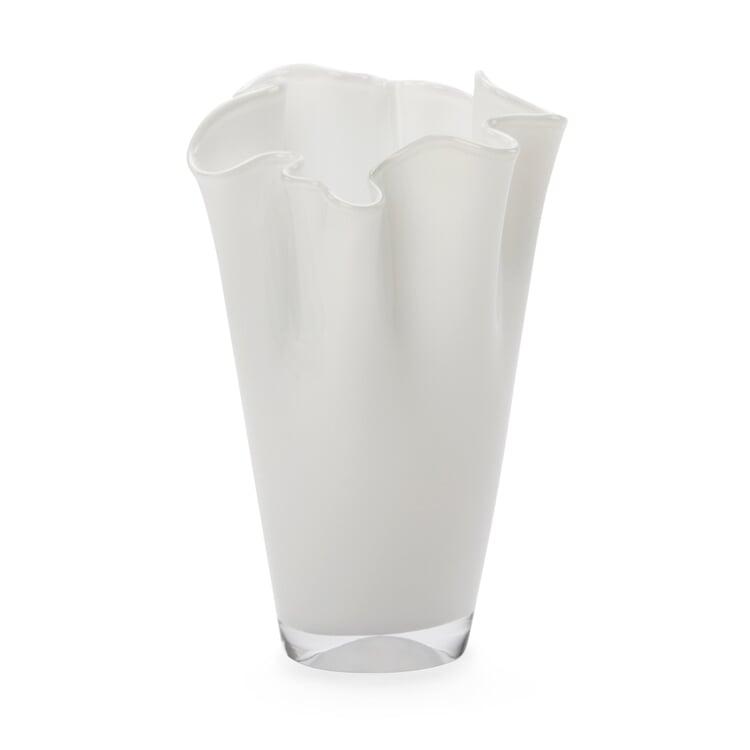 Faltenvase klein Weiß