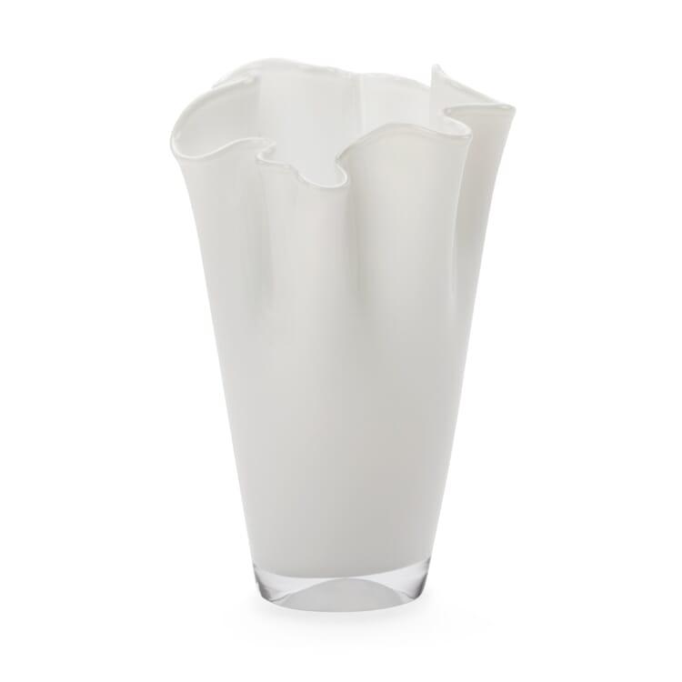 Faltenvase klein, Weiß