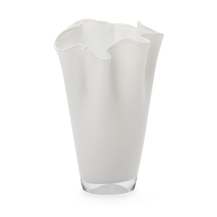 Small Pleated Vase, Opal White