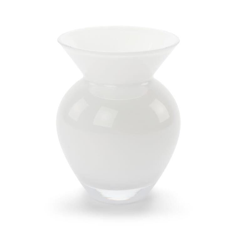 Small Vase Bulbous Form Opal White