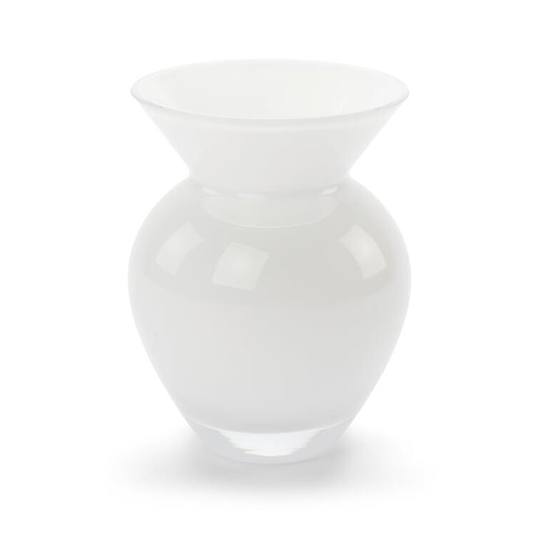 Vase bauchig klein opalweiß